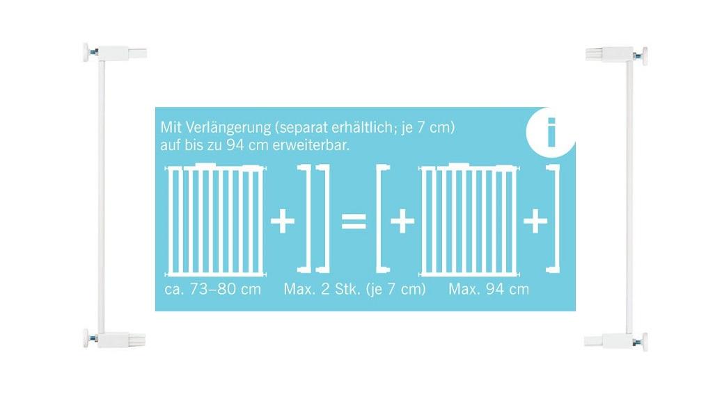 safety 1st verl ngerung quick close plus schutzgitter 7cm. Black Bedroom Furniture Sets. Home Design Ideas