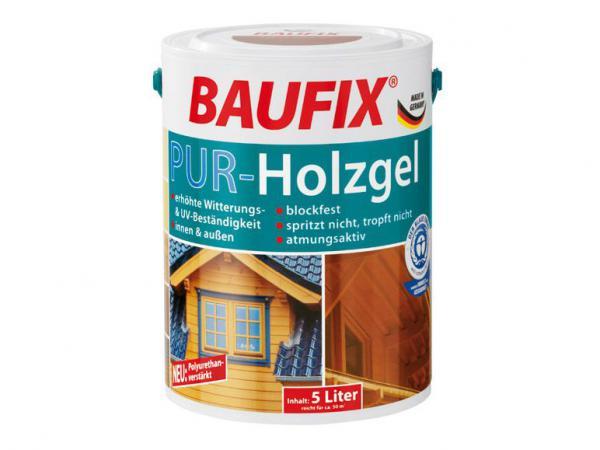 baufix 5l pur holzgel wetterschutz lasur innen au en holzschutz ebay. Black Bedroom Furniture Sets. Home Design Ideas