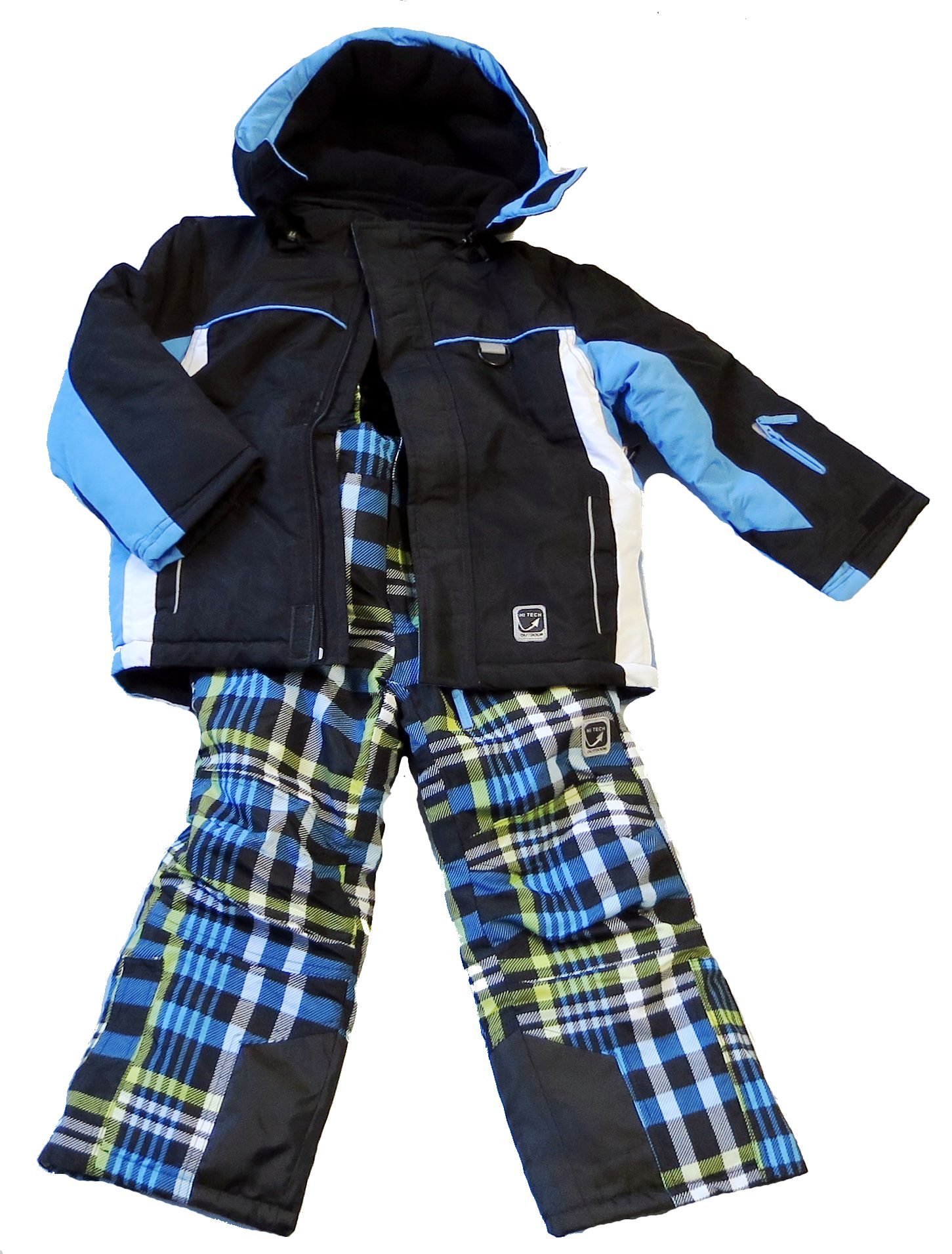 Kinder-Jungen-Maedchen-Skianzug-Schneeanzug-hightech-fashion-Anzug-Jacke-Hose
